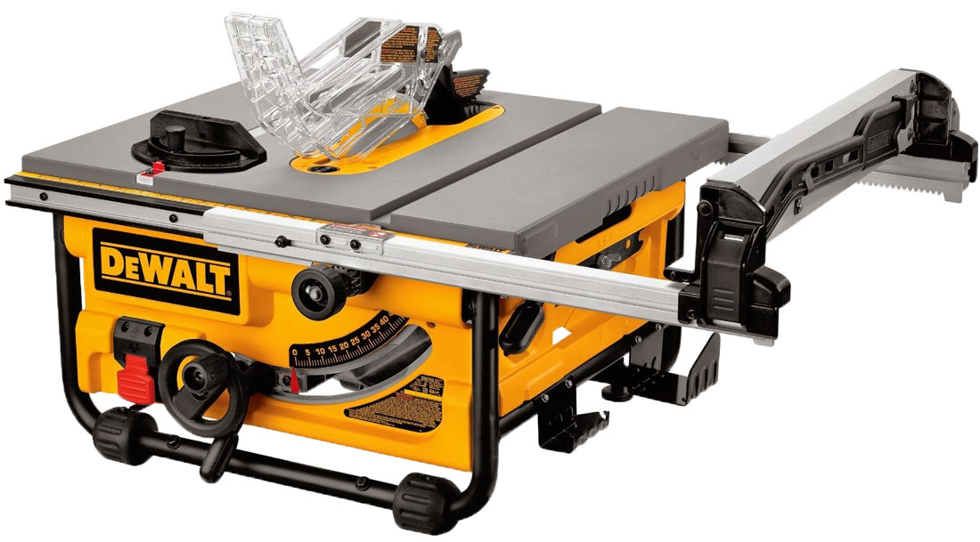 Dewalt dwe7480 dwe7480xa review small but powerful table saw Portable table saw reviews